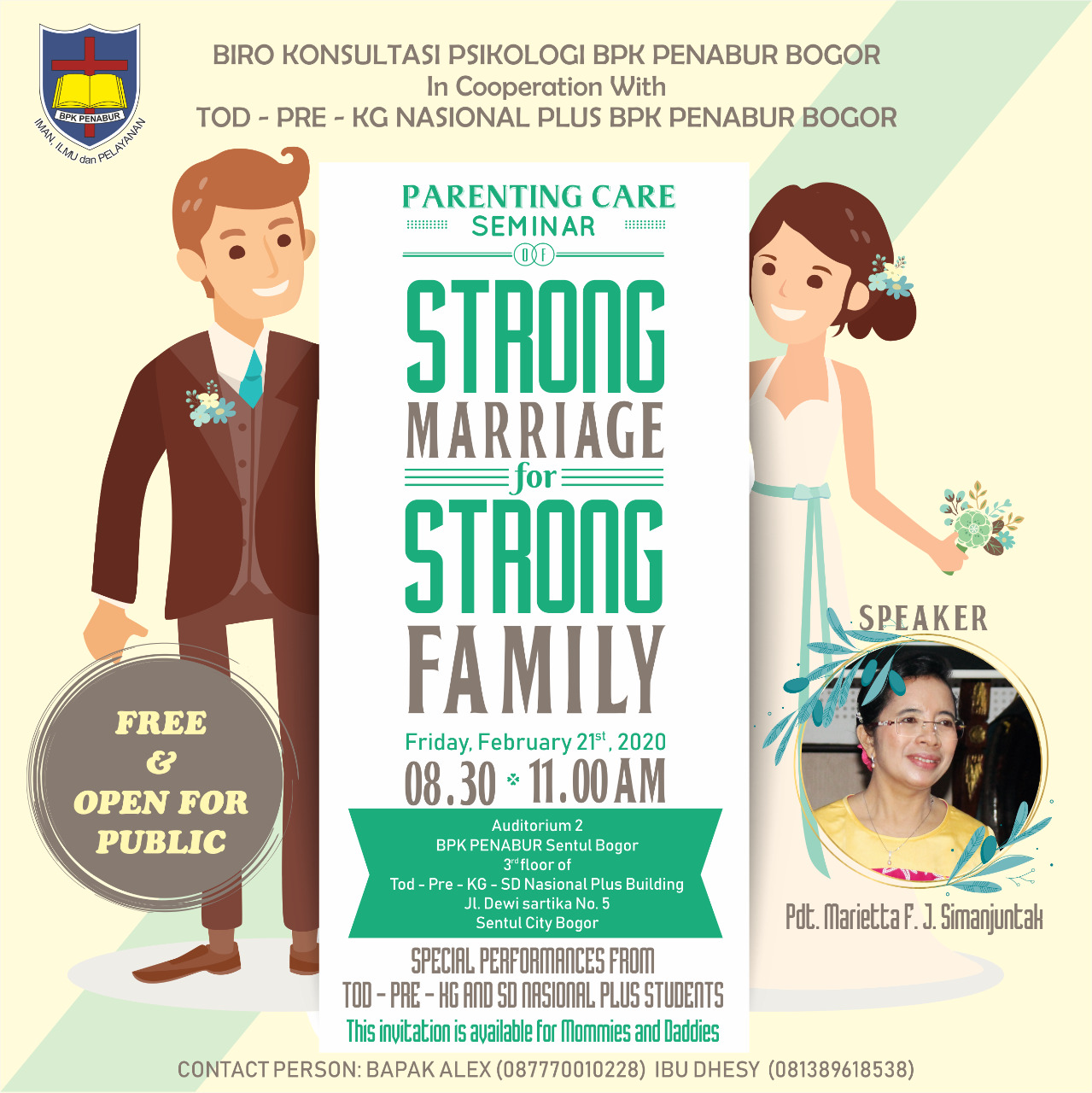 "2nd Parenting Care Seminar ""Strong Marriage for Strong Family"""