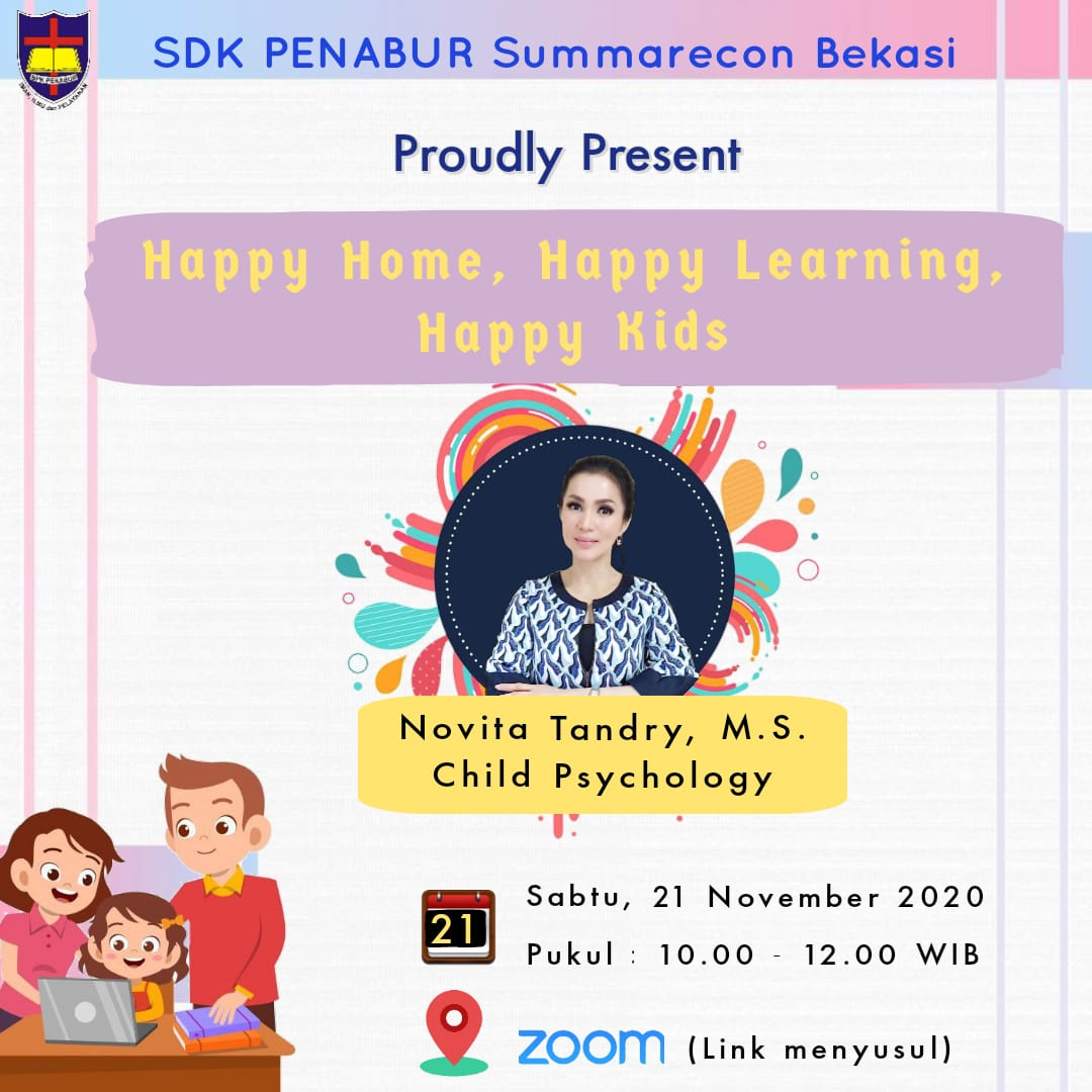 "Webinar Orangtua ""Happy Home, Happy Learning, Happy Kids"""